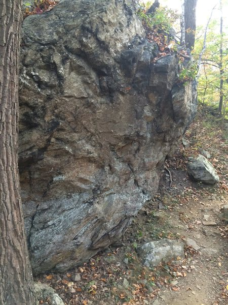 Another angle on the boulder.