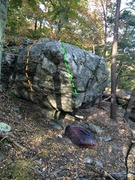 Rock Climbing Photo: Another angle on the Starlight Boulder. The arete ...