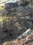 Rock Climbing Photo: The lesser seen side of the Sugar Boulder. It has ...