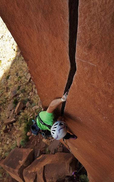 Rock Climbing Photo: Yuta onsighting Scarface