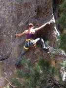 Rock Climbing Photo: Janelle Anderson goin' easy on Brokeback