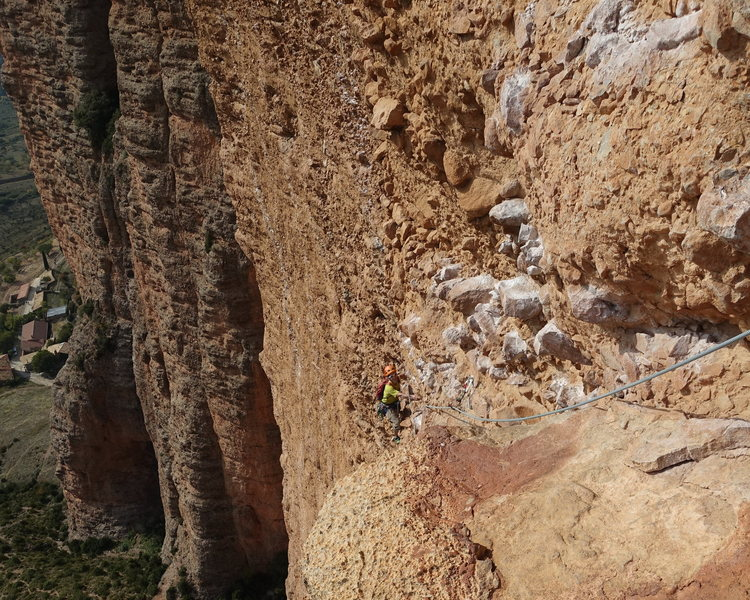 Rock Climbing Photo: The top part of the route is fun and juggy. Just u...