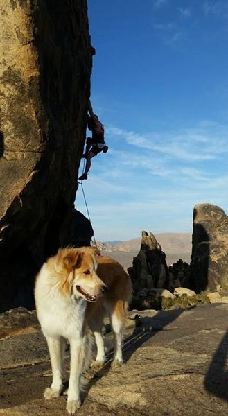 Rock Climbing Photo: Kyle Campbell on Sidewinder, and George on lookout...