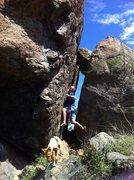 Rock Climbing Photo: Big boulder very difficult..