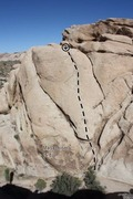 Rock Climbing Photo: Masochism (5.8), Joshua Tree NP