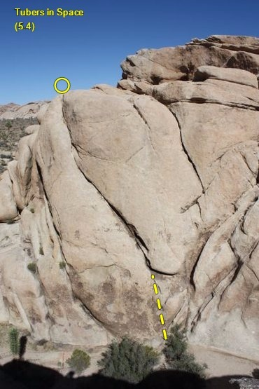 Rock Climbing Photo: Tubers in Space (5.4), Joshua Tree NP