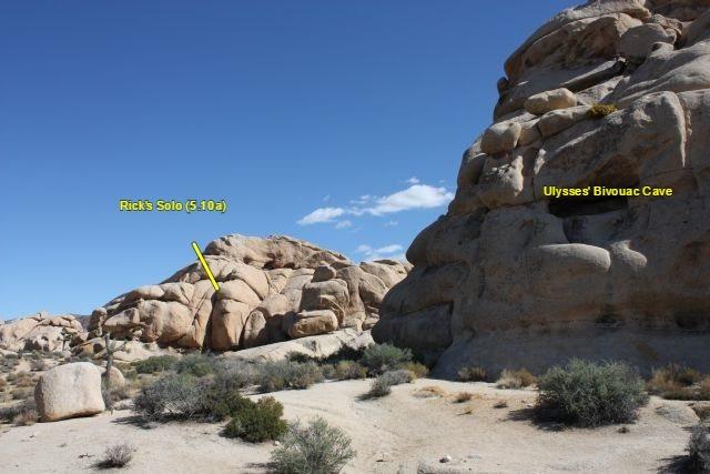 Rock Climbing Photo: Rick's Solo (5.10a), Joshua Tree NP