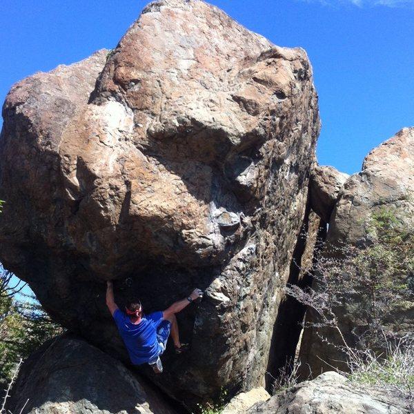 Rock Climbing Photo: The hardest Boulder problem in Coralita..