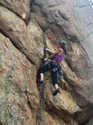 Rock Climbing Photo: Aubrey in the face crux of The Claw. Photo credit:...