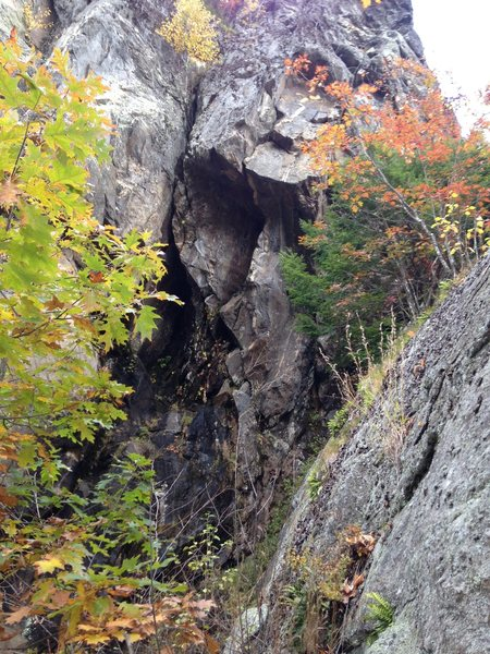 Rock Climbing Photo: A better angle looking at Karmic... The other phot...
