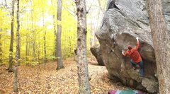 Rock Climbing Photo: Matt Wallace warming up as I hiked by... 'Twas a p...