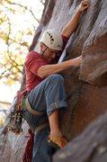 Rock Climbing Photo: As close to an onsight of Cheatah 5.10b @ Devils L...
