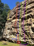 Rock Climbing Photo: Dave: here are the routes as I recall them