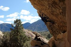 Rock Climbing Photo: Tyler-son on lead