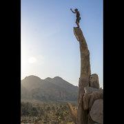 Rock Climbing Photo: Aguille de Joshua Tree!