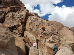 Rock Climbing Photo: 8 yr old Morgan - Followed his 6yr old Brother up ...