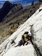 Rock Climbing Photo: Jay Schenk following P1 of God's Grace