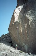 Rock Climbing Photo: Approach pitch to The Trophy