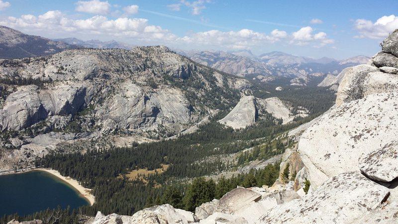 View from Tenaya Peak looking at Pywiak