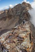 Rock Climbing Photo: Cottonwood traverse, ridge after monte cristo