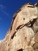 Rock Climbing Photo: David Friedman getting his trad game on.