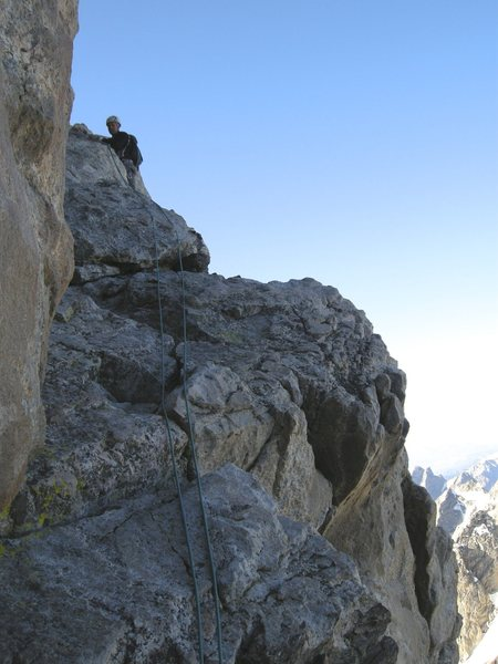 Rock Climbing Photo: Wall Street and the start of the upper exum.