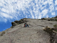 Rock Climbing Photo: The second Pitch of something we did. Bolted ancho...