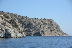 Rock Climbing Photo: The DWS cave as seen from the boat