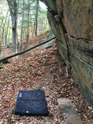 Rock Climbing Photo: North Cliff climber view