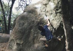 Rock Climbing Photo: Going for the lip