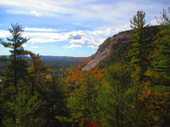 Rock Climbing Photo: Whitehorse in Fall Color as taken from Cathedral L...
