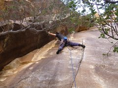 Rock Climbing Photo: fiddling in an RP
