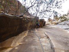 Rock Climbing Photo: Through the low crux