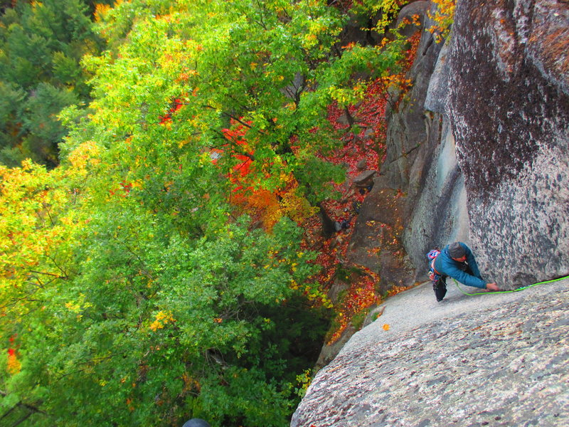 Rock Climbing Photo: Mark Synnott follows P1 of The Book of Solemnity (...