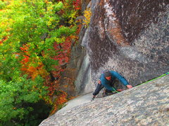 Rock Climbing Photo: Mark Synnott follows higher up on P1 of The Book o...