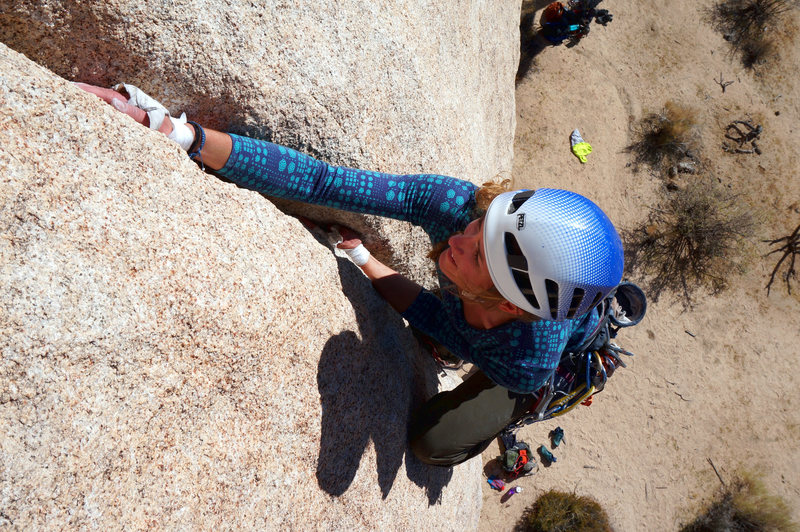 Rock Climbing Photo: The handjam that brings smiles.