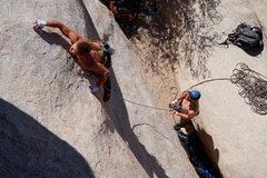 Rock Climbing Photo: It's a pretty fun, albeit thin, slab start.