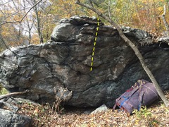 Rock Climbing Photo: East side of the boulder where Doh! Is located