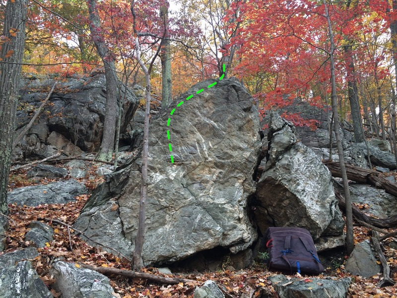 Small block below the Big Time boulder. The face has a pretty cool V0 called Surf & Turf