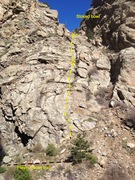 Rock Climbing Photo: Creek Dance is well right of Playin' Hooky and the...