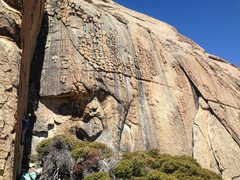 Rock Climbing Photo: Mike working out the moves on Space Cowboy 12a Jun...