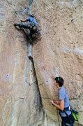 Rock Climbing Photo: Jon getting up.
