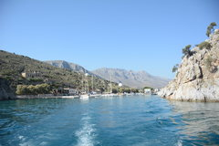 Vathy harbor from boat