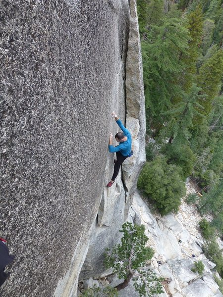 Rock Climbing Photo: Johnny Quest free solo pic 2