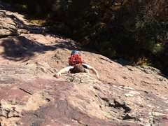 Rock Climbing Photo: This is was our crux down low. Who knows if it's t...