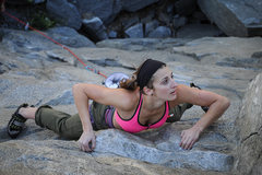 Rock Climbing Photo: Vanessa on a good route left of Whammy.  Don't rem...