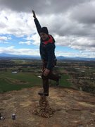 Rock Climbing Photo: I repaired the cairn and went for a slightly highe...