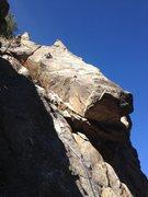 Rock Climbing Photo: High on the climb.