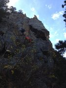 Rock Climbing Photo: The scramble up to the routes.