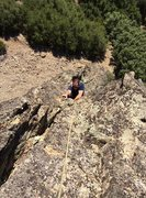 Rock Climbing Photo: Following the 5.7
